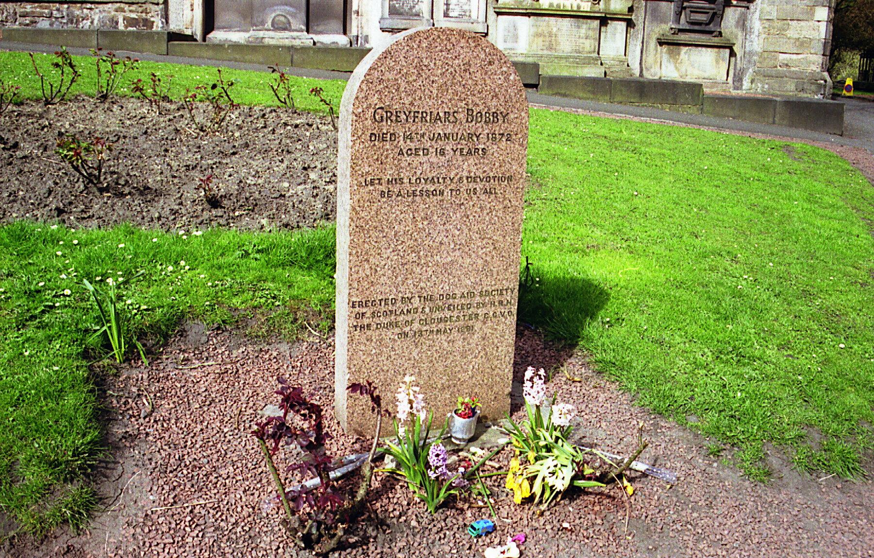 Das Grab des Greyfriars-Bobby