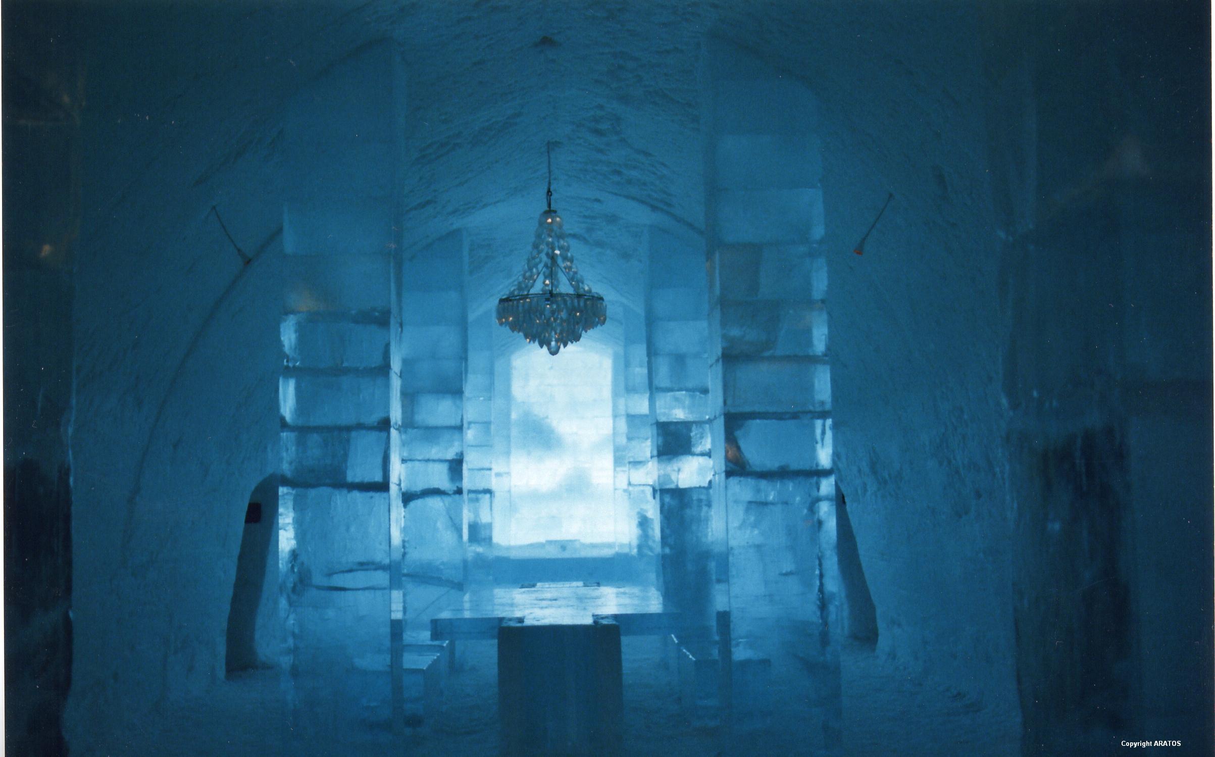 Kronleuchter aus Eis
