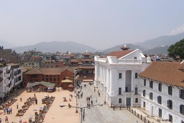Kathmandu Durbar Square von oben