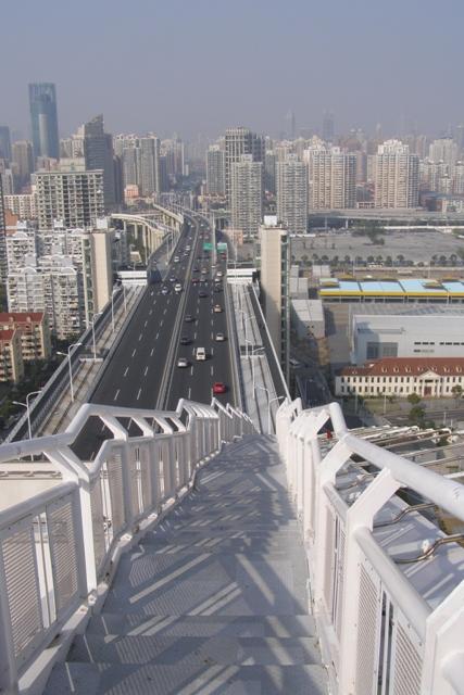Ausblick von der Lupu-Brücke