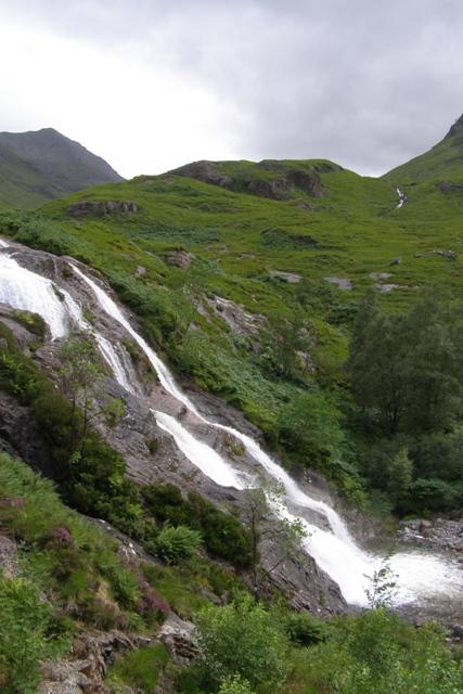 Wasserfall im Tal von Glen Coe