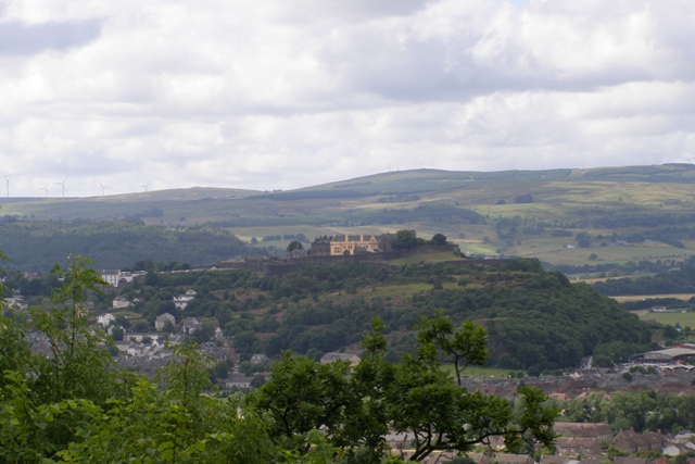 Stirling Castle vom Wallace Monument aus