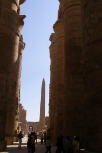 Obelisk im Karnak Tempel