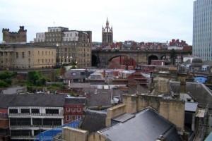 Über den Dächern von Newcastle