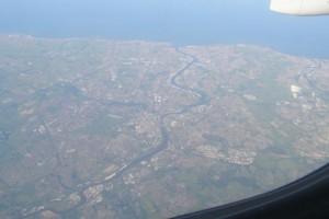 Newcastle aus dem Flugzeug