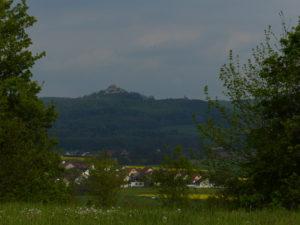 Giechburg vom Autobahnparkplatz Giechburgblick aus