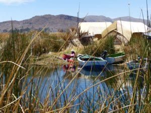 Schilfinseln im Titicacasee