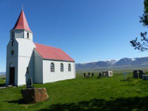 Kirche beim Torfgehöft Glaumbær
