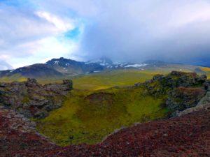 Ausblick vom Krater Saxhóll