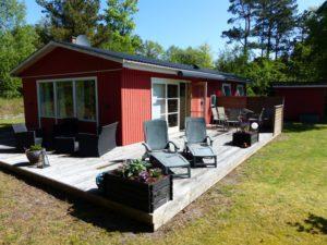 Unser schönes rotes Ferienhaus in Østra Sømarken